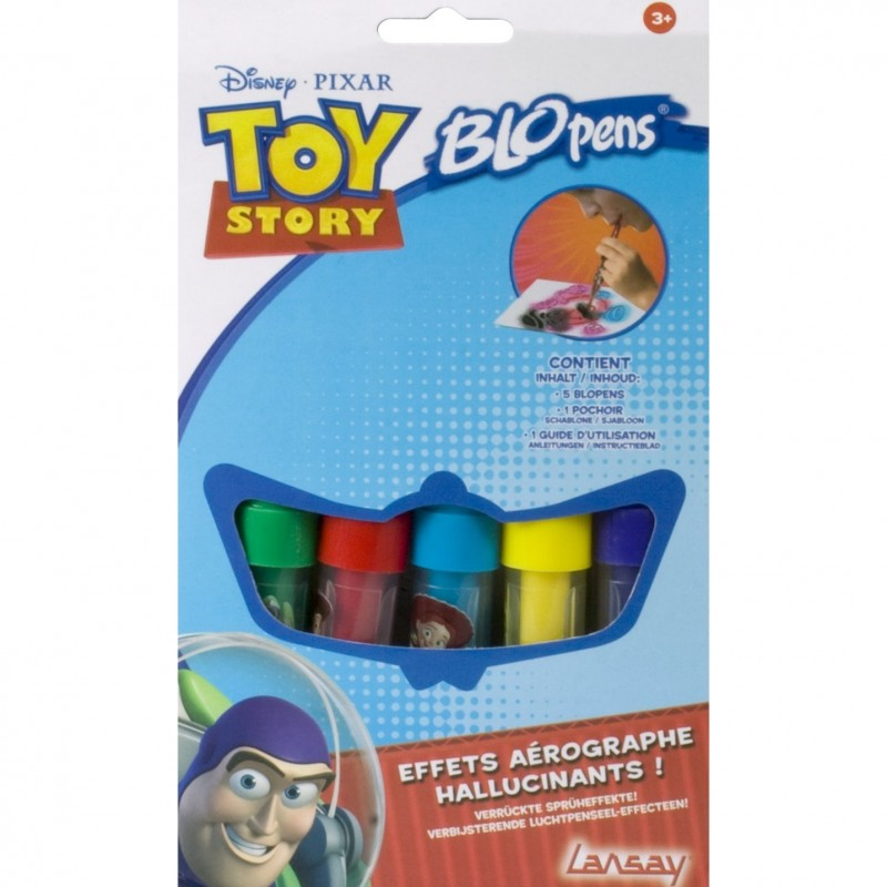 Lot de 5 blopens + pochoir Toy Story LANSAY (708)