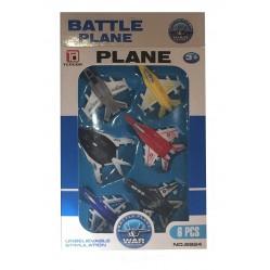 Lot de 6 avions de combat miniature en plastique (2093)