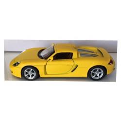 Porsche carrera GT jaune 1/36 eme (2169)