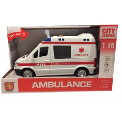 Wdk Partner :Ambulance Miniature Sons et Lumières 1/16 (2211)