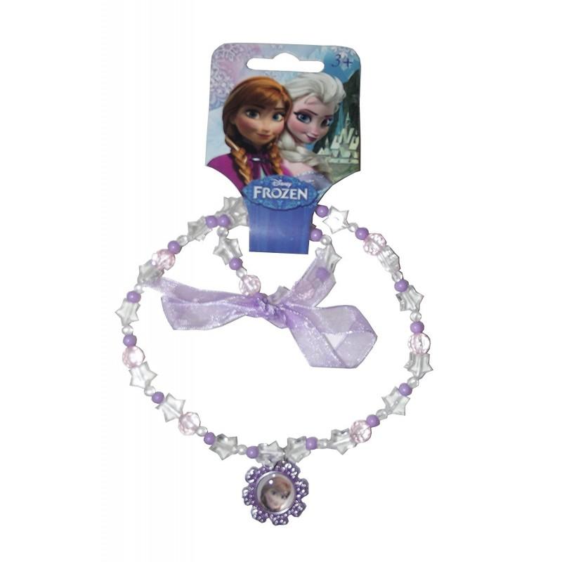 Collier fantaisie plastique Anna la reine des neiges (2236)