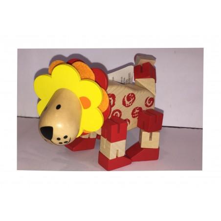 Le Lion : Petit Animal articulé en bois (2255)