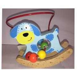 Le Chien : Petit Animal en bois boulier et balancier (2258)