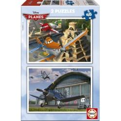 Educa - Puzzle pour enfant -Planes - 2x48 pièces (1990)