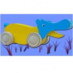 Hippopotame en bois à pousser (72)