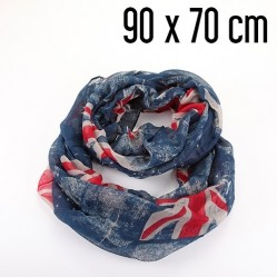 Foulard tube XL British bleu 70 x 90 cm  (1882)