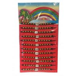 Lot de 12 bracelets Rasta (2096)