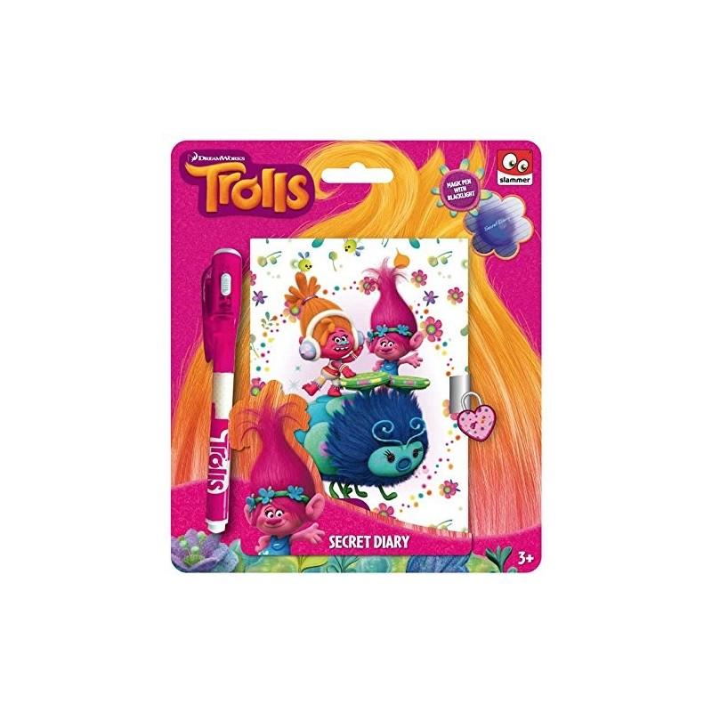 Taldec - Carnet Secret Et Stylo Encre UV - Trolls (2157)