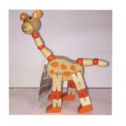 La Girafe : Petit Animal articulé en bois (2254)