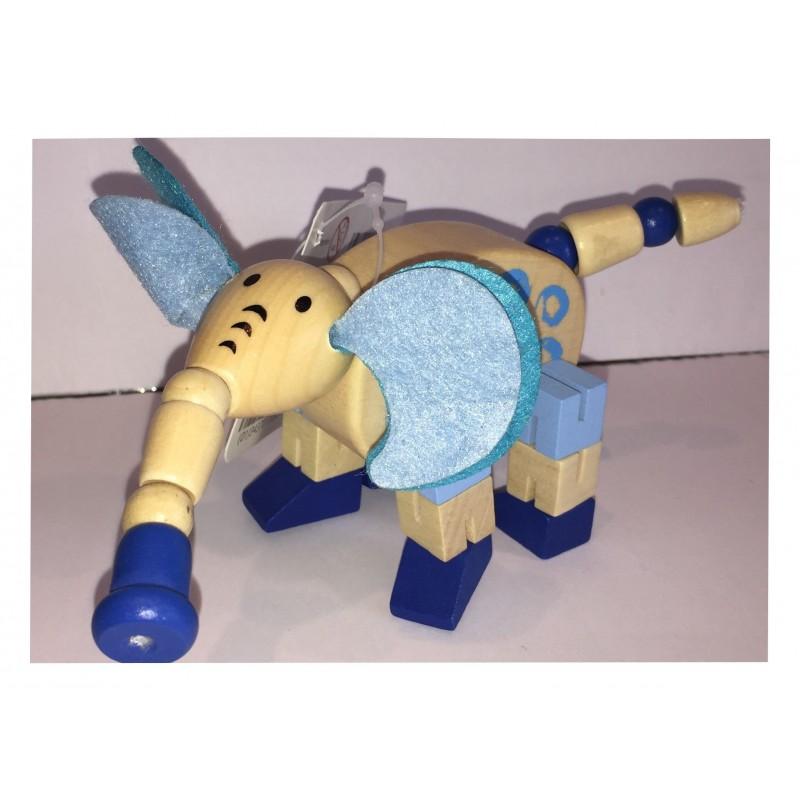 L'éléphant : Petit Animal articulé en bois (2256)