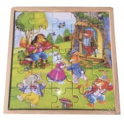 Lot de 3 Puzzles 18 cm par...