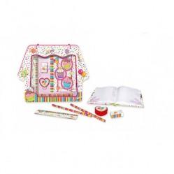 Coffret papeterie Journal intime et accessoires cupcake (2408)