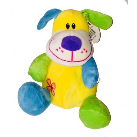 Peluche chien coloré 23 cm (2472)