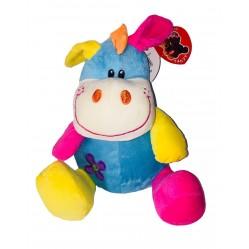 Peluche hippopotame coloré 23 cm (2473)