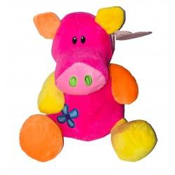 Peluche cochon coloré 23 cm (2475)