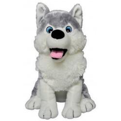 Peluche husky chien de traineau blanc gris tout doux 20 cm (2476)