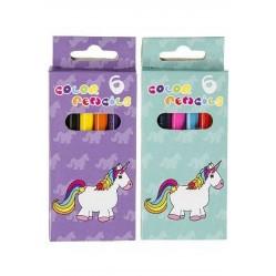 BBI Lot de 6 Petits Crayons de Couleur Licorne (2582)