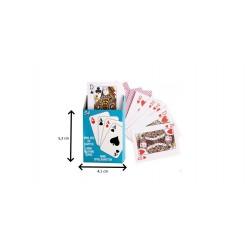 Mini jeu de 54 cartes en papier (2583)