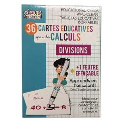 36 Cartes educatives effacables - calcul - divisions (2499)
