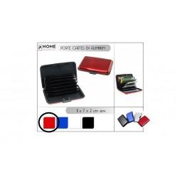Porte carte en aluminium rouge (2567)