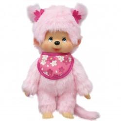 Peluche Kiki Monchichi Pinky  20 cm (2589)