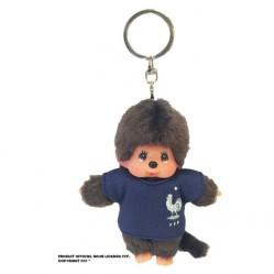 Porte clefs Kiki Monchichi 10 cm FFF équipe de France (2590)