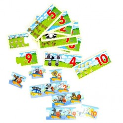 Puzzle en bois 20 pieces modéle aléatoire (2626)