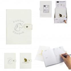 Agenda perpétuel Licorne 12,5 x 17,6 cm 100 pages Organiseur (2529)