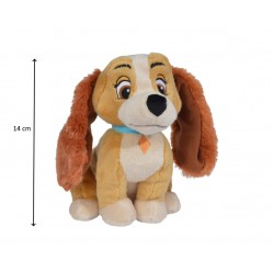 Peluche Lady de disney , le chien de la belle et le clochard 14 cm (2665)