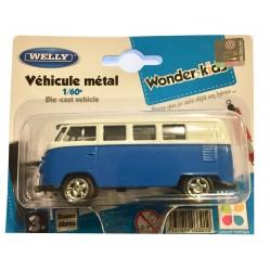Welly - Voiture Miniature en métal 1/60 Combi Van Volkswagen 1963 (2670)