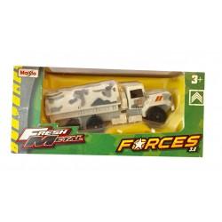Véhicule militaire miniature 1/64 Camion transport de troupe Camouflage (2738)