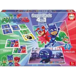 Educa : Jeu éducatif superpack 4 en 1 pj masks puzzle domino (2840)