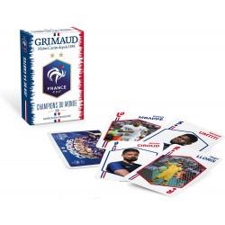 Grimaud- FFF Champions du Monde-Jeu de 54 Cartes, 2 étoiles (2846)
