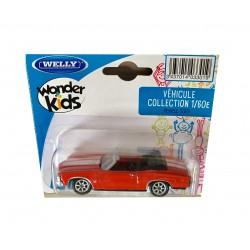 Welly : Vehicule miniature 1/60 en métal Chevrolet Chevelle SS 454 (2865)