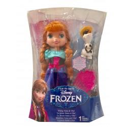 Poupée Anna la reine des neiges 15 cm et Olaf (2887)