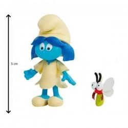 Figurine schtroumpf  5 cm et son compagnon sunny (2912)