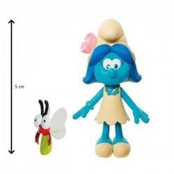 """Figurine schtroumpf """"la fleur""""  5 cm et son compagnon sunny (2913)"""