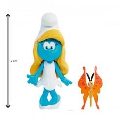 Figurine schtroumpfette 5 cm et son compagnon steve (2914)