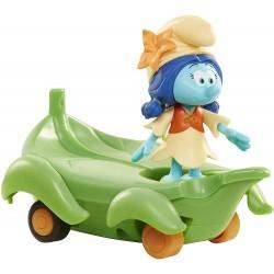Jakks Figurine schtroumpf Lily 5,5 cm et Son véhicule (2918)