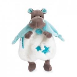 Baby Nat' - Peluches et Doudous - Doudou Hippopotame Bazile 25 cm (2932)