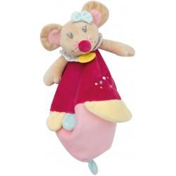 Baby Nat' - Peluches et Doudous - Doudou Souris Rosie 25 cm (2934)