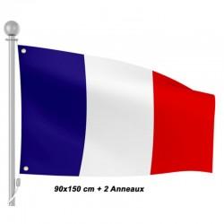Drapeau Le Tricolore France 90 cm par 150 cm avec oeillets métal (2958)