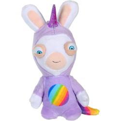 Peluche sonore lapins crétins Licorne 20 cm super héros (2969)