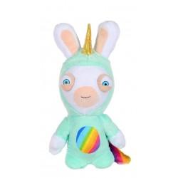 Peluche sonore lapins crétins Licorne  20 cm super héros (2970)