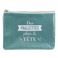 The concept Factory: Trousse Plate verte à Paillettes (2974)