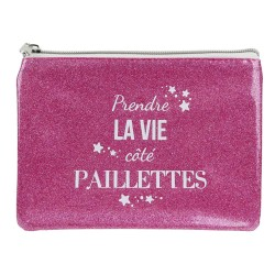 The concept Factory: Trousse Plate Rose à Paillettes (2975)