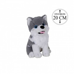Peluche Husky chien de traineau tout doux 20 cm de haut (2989)