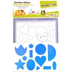Wonderkids - A1400069 - Kit De Loisirs Créatifs - Gommettes Géantes (3024)