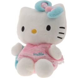 Peluche Hello Kitty en robe rose - 15 cm (3064)